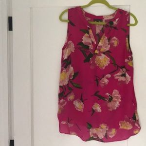 Adrianna Papell pink sleeveless blouse large